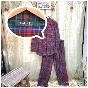 RALPH LAUREN LADIES 2PC HOLIDAY LUXURY PJ SUIT